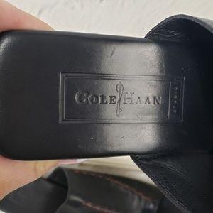 Cole Haan Shoes - Cole Haan Black Leather Toe Loop Sandals
